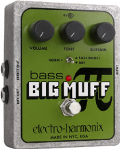 Electro Harmonix Bass Big Muff Distortion Sustain Pedal Stomp Box